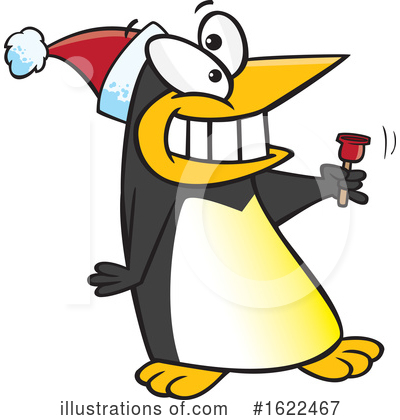 Royalty-Free (RF) Penguin Clipart Illustration by toonaday - Stock Sample #1622467