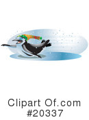 Royalty-Free (RF) Penguin Clipart Illustration #20337
