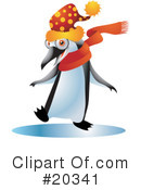 Royalty-Free (RF) Penguin Clipart Illustration #20341