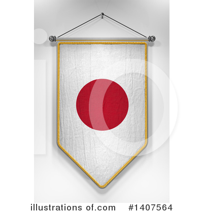 Japanese Flag Clipart #1407564 by stockillustrations