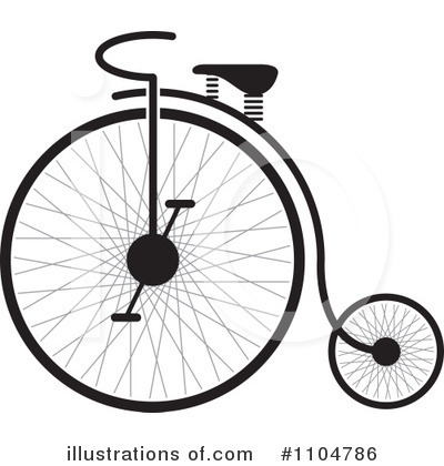 Penny Farthing Clipart #1104786 by Lal Perera