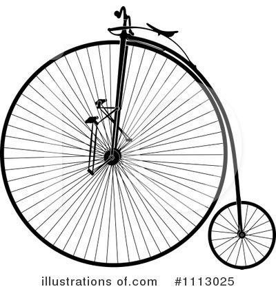 Royalty-Free (RF) Penny Farthing Clipart Illustration by Frisko - Stock Sample #1113025