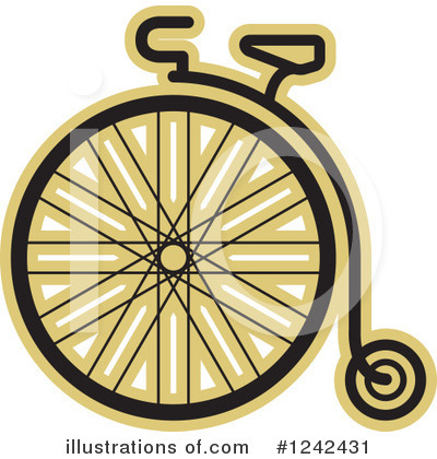 Penny Farthing Clipart #1242431 by Lal Perera