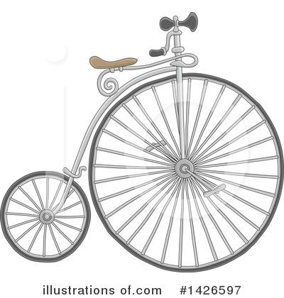 Bicycle Clipart #1426597 by Alex Bannykh