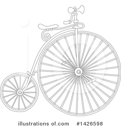 Penny Farthing Clipart #1426598 by Alex Bannykh