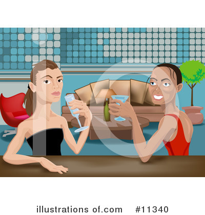Gay Couple Clipart #11340 by AtStockIllustration