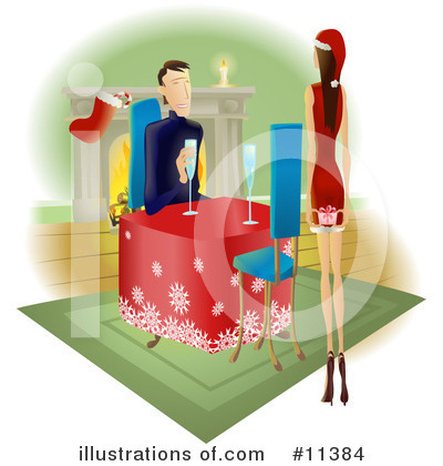 Couple Clipart #11384 by AtStockIllustration