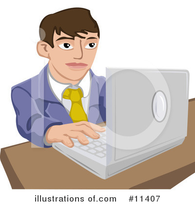 Laptop Clipart #11407 by AtStockIllustration