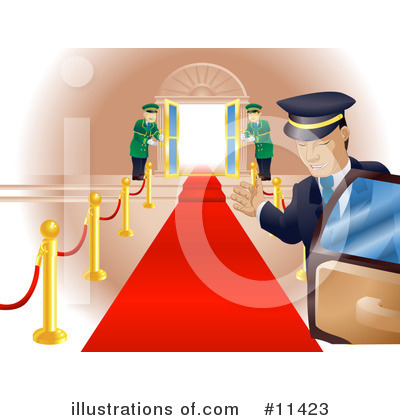 Red Carpet Clipart #11423 by AtStockIllustration
