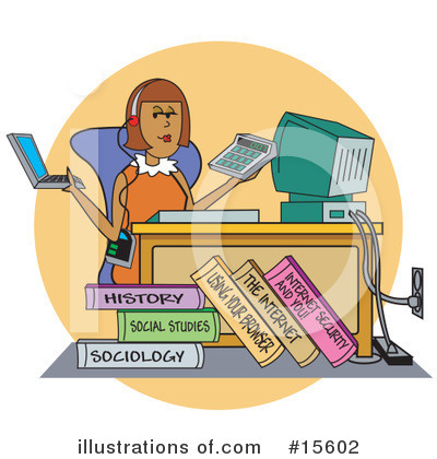 College Student Clipart #15602 by Andy Nortnik