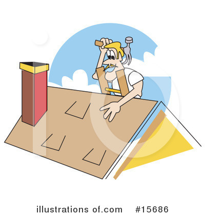 Roofer Clipart #15686 by Andy Nortnik