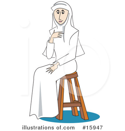 Nun Clipart #15947 by Andy Nortnik
