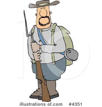 Confederate Soldier Clipart #4351 by djart
