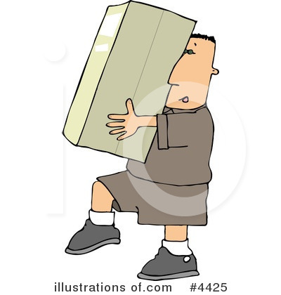 Delivery Man Clipart #4425 by djart