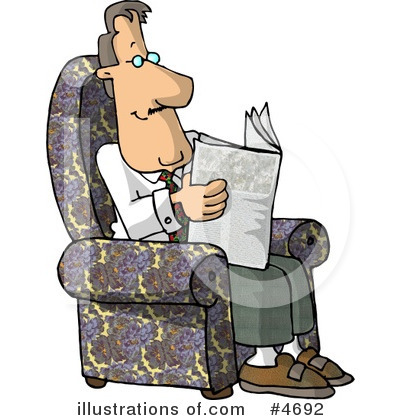 Newspaper Clipart #4692 by djart
