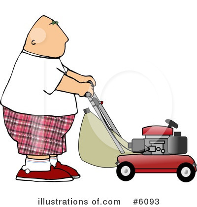 Lawn Mower Clipart #6093 by djart