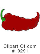 Royalty-Free (RF) Peppers Clipart Illustration #19291