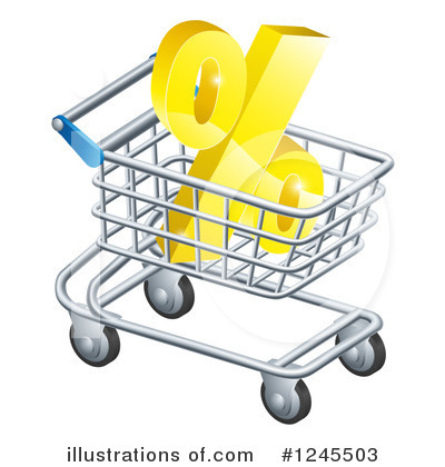 Shopping Cart Clipart #1245503 by AtStockIllustration
