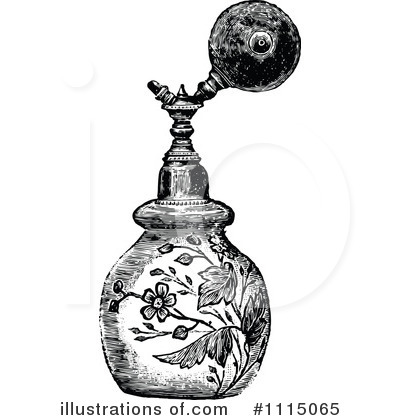Royalty-Free (RF) Perfume Clipart Illustration by Prawny Vintage - Stock Sample #1115065
