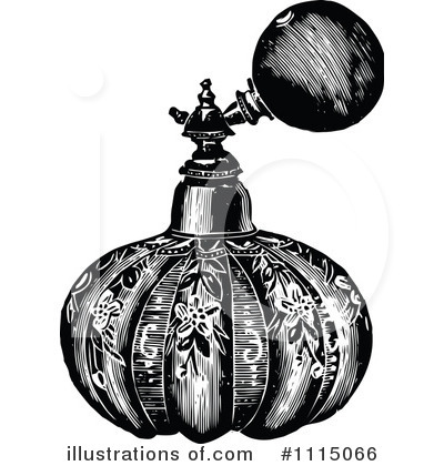 Royalty-Free (RF) Perfume Clipart Illustration by Prawny Vintage - Stock Sample #1115066