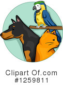 Royalty-Free (RF) Pets Clipart Illustration #1259811
