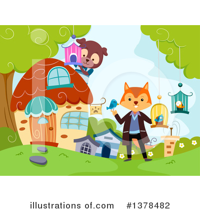 Fox Clipart #1378482 by BNP Design Studio
