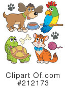 Royalty-Free (RF) Pets Clipart Illustration #212173