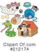 Royalty-Free (RF) Pets Clipart Illustration #212174