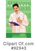 Royalty-Free (RF) Pharmacist Clipart Illustration #92943