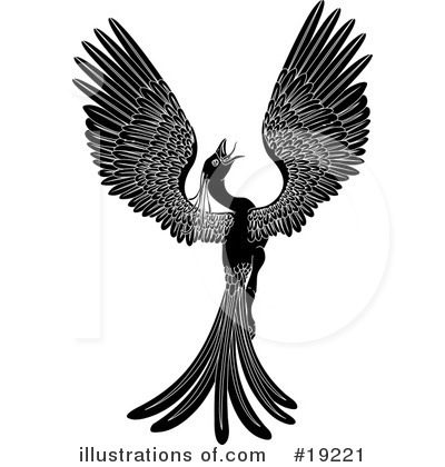 Royalty-Free (RF) Phoenix Clipart Illustration by Geo Images - Stock Sample #19221