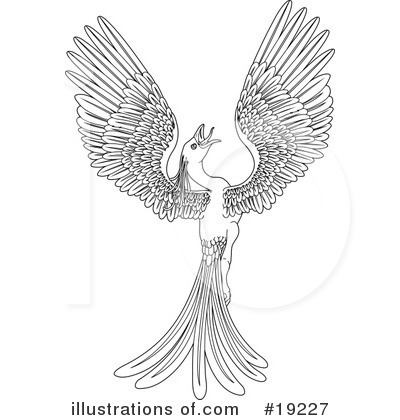 Royalty-Free (RF) Phoenix Clipart Illustration by Geo Images - Stock Sample #19227
