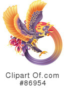 Royalty-Free (RF) Phoenix Clipart Illustration #86954
