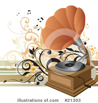 Record Player Clipart #21303 by OnFocusMedia