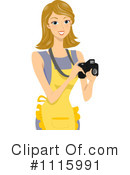 Royalty-Free (RF) Photographer Clipart Illustration #1115991