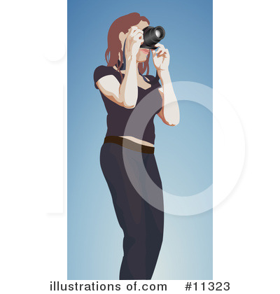 Photographer Clipart #11323 by AtStockIllustration