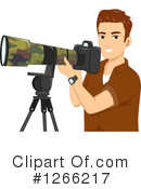 Royalty-Free (RF) Photographer Clipart Illustration #1266217