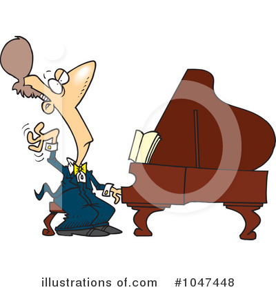 Piano Clipart #1047448 by toonaday