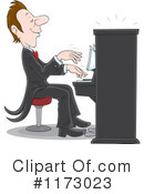 Royalty-Free (RF) Piano Clipart Illustration #1173023