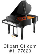 Royalty-Free (RF) Piano Clipart Illustration #1177820