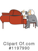 Royalty-Free (RF) Piano Clipart Illustration #1197990