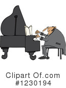 Royalty-Free (RF) Piano Clipart Illustration #1230194