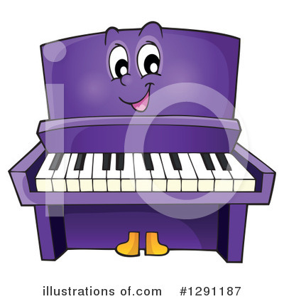 Royalty-Free (RF) Piano Clipart Illustration by visekart - Stock Sample #1291187