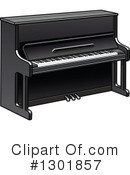 Royalty-Free (RF) Piano Clipart Illustration #1301857