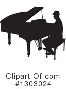 Piano Clipart #1303024 by Maria Bell
