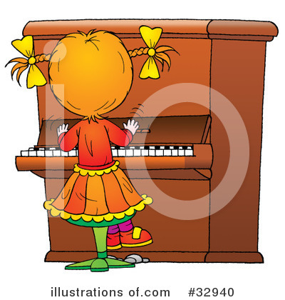 Piano Clipart #32940 by Alex Bannykh