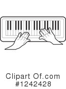 Piano Keyboard Clipart #1242428