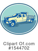 Pick Up Truck Clipart #1544702 by patrimonio