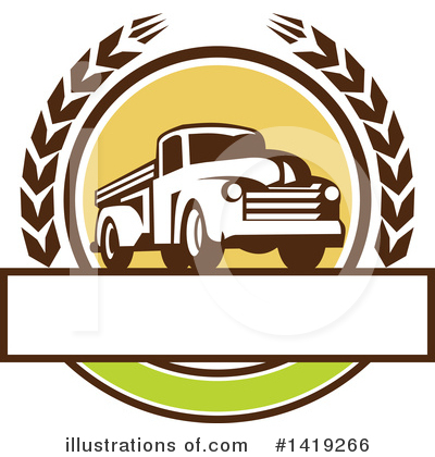 Royalty-Free (RF) Pickup Clipart Illustration by patrimonio - Stock Sample #1419266