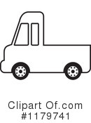 Pickup Truck Clipart #1179741 by Lal Perera