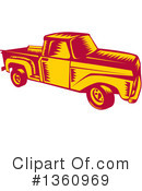 Pickup Truck Clipart #1360969 by patrimonio